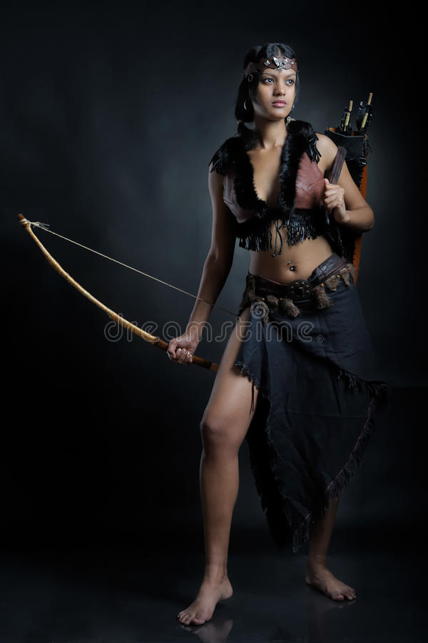 Amazonki dziewczyna zdjęcia royalty free