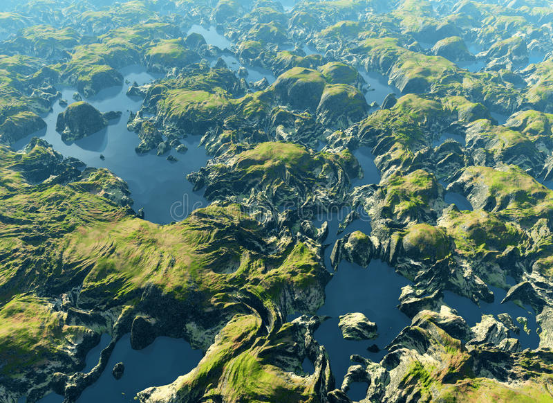 Amazonki rzeka ilustracji