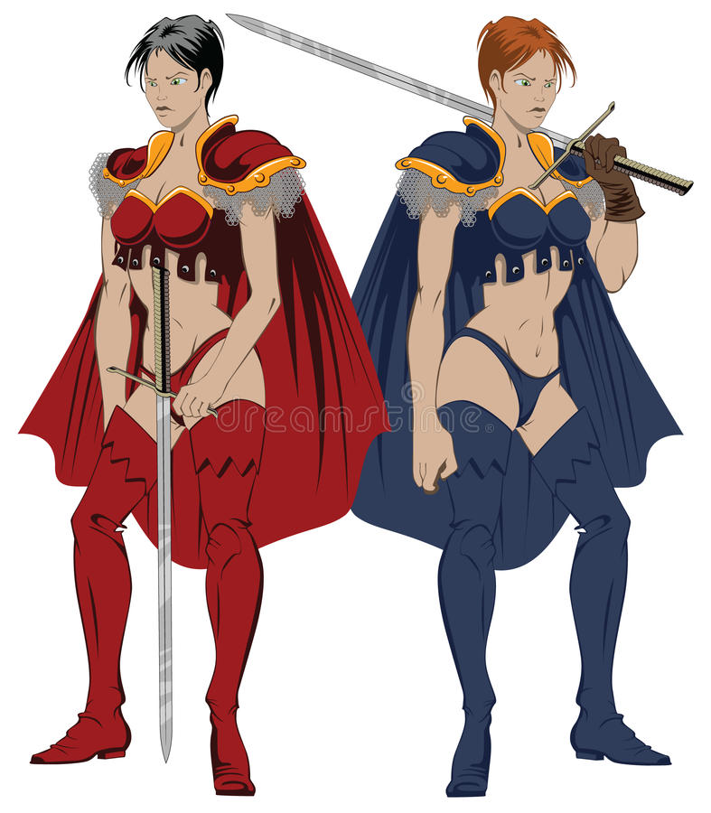 amazons fantasi royaltyfri illustrationer