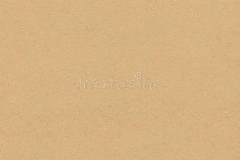 Ambachtdocument textuur vectorachtergrond in beige vector illustratie