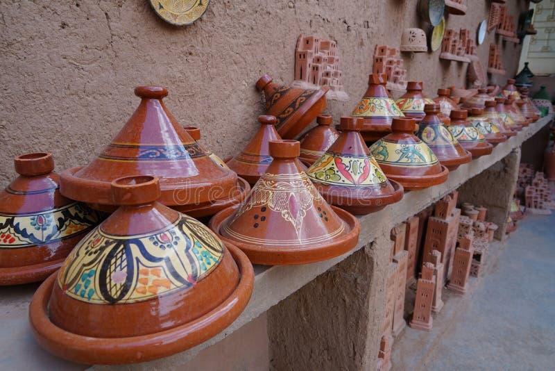 Ambachten waar couscous in Marokko gekookt is royalty-vrije stock foto