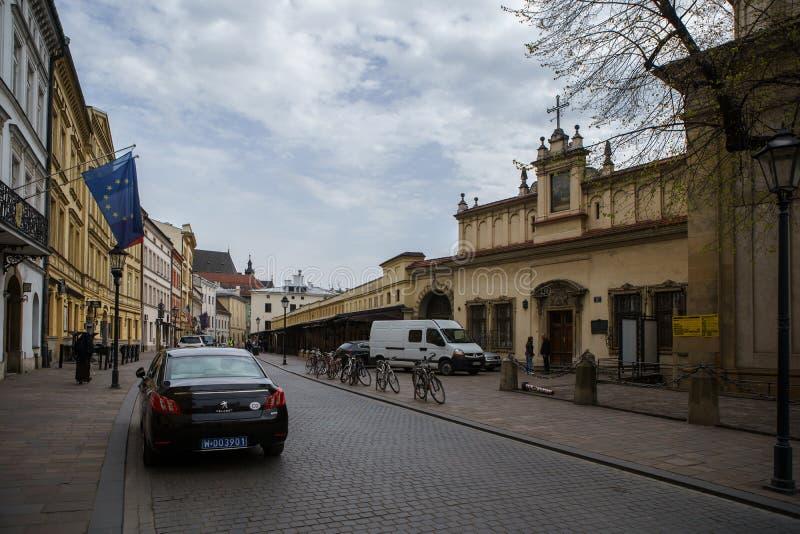 Ambasady francuskiej powierzchowność w Krakow mieście fotografia royalty free