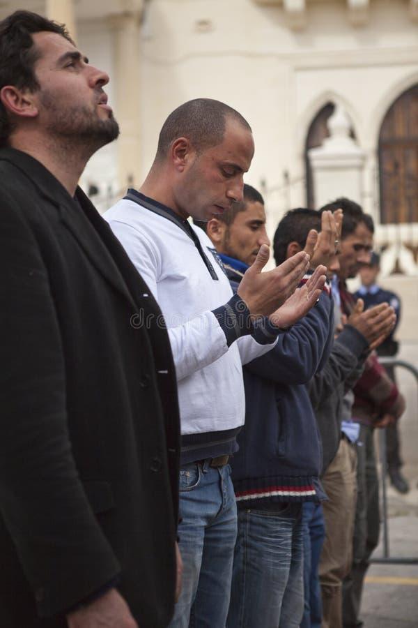 ambasady libijczyka protest zdjęcia stock