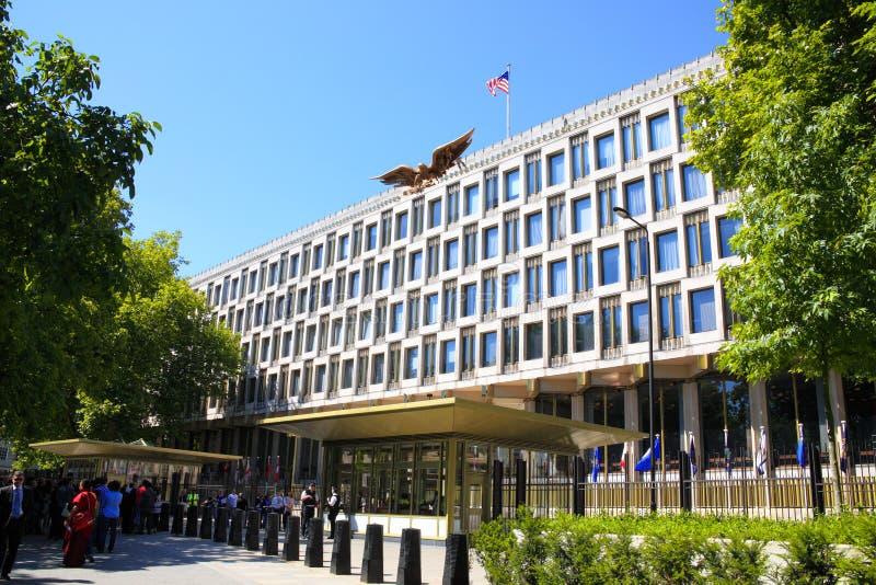 ambasady London stan jednoczący zdjęcia royalty free