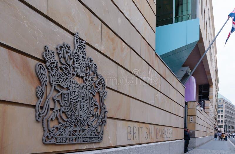 Ambasciata britannica fotografia stock