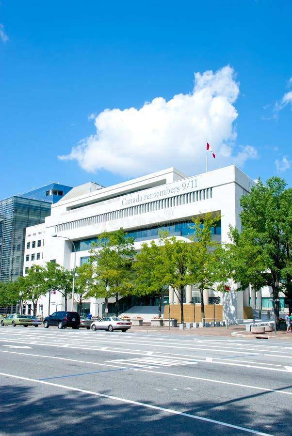 Ambasciata canadese a DC di Washington immagini stock