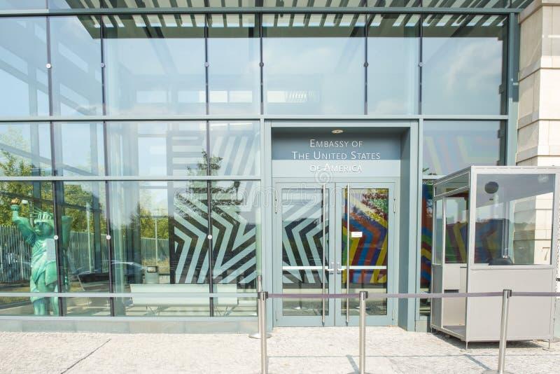 Ambasciata degli Stati Uniti a Berlino fotografie stock libere da diritti