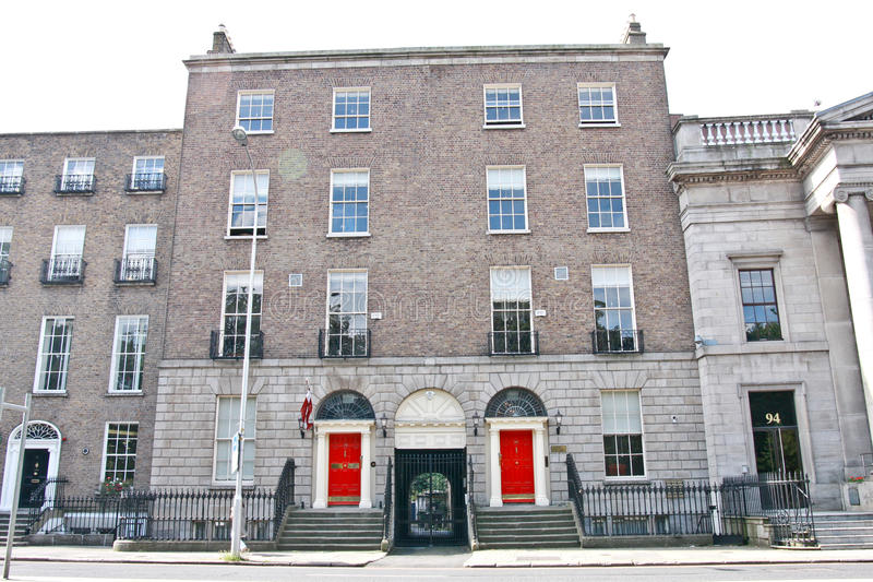 Ambasciata della Lettonia, Dublino, Irlanda fotografia stock