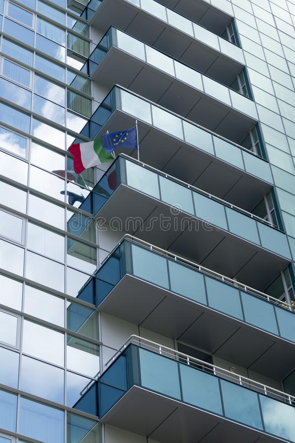 Ambasciata italiana immagine stock