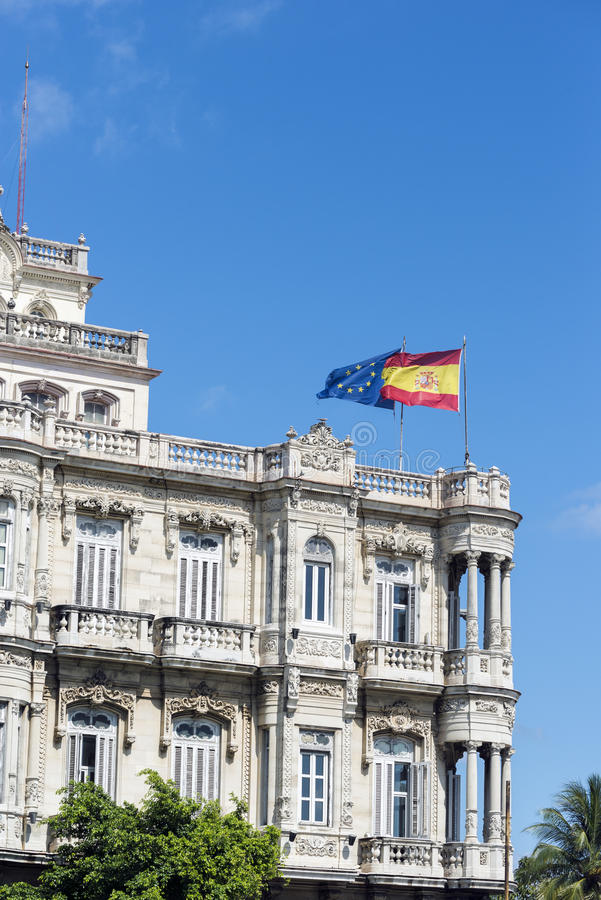 Ambasciata spagnola fotografia stock