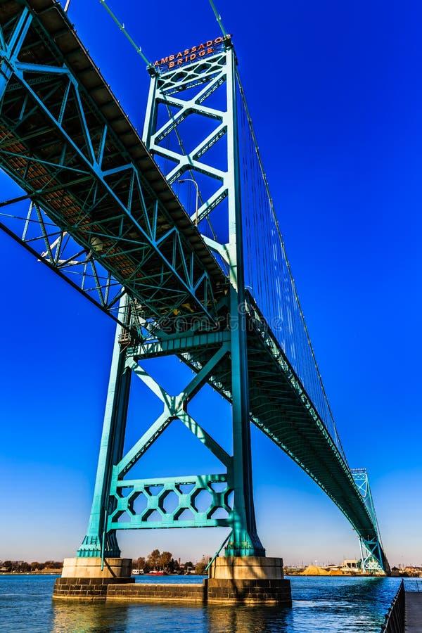 Ambasciatore Bridge, Windsor, Ontario, Canada immagini stock libere da diritti