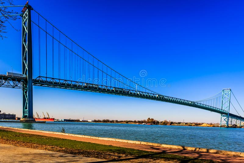 Ambasciatore Bridge, Windsor, Ontario, Canada immagine stock