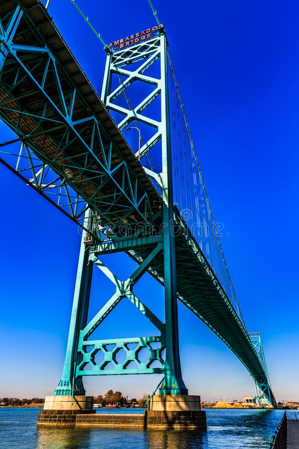 Ambassadör Bridge, Windsor, Ontario, Kanada royaltyfria bilder