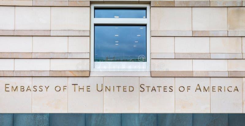 Ambassad av USAen berlin Tyskland royaltyfria foton