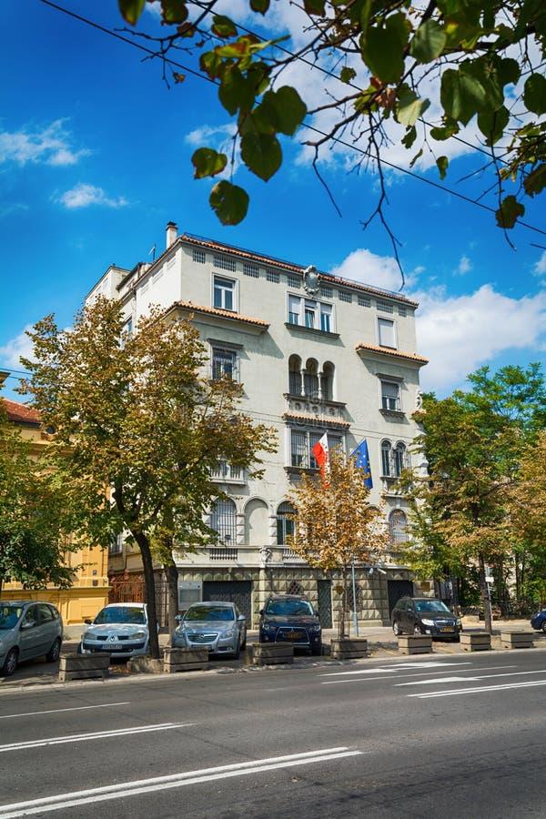 Ambassade de la Pologne à Belgrade photos stock
