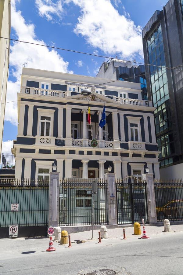 Ambassade et consulat de la Belgique à Istanbul, photographie stock libre de droits