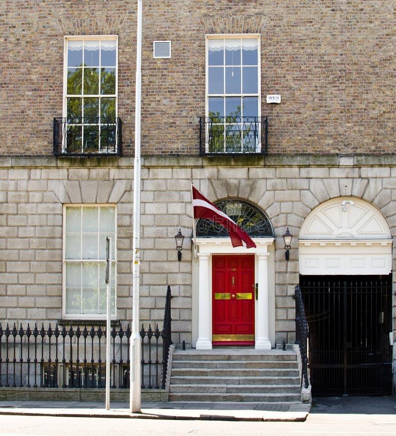 Ambassade letton, Dublin images stock