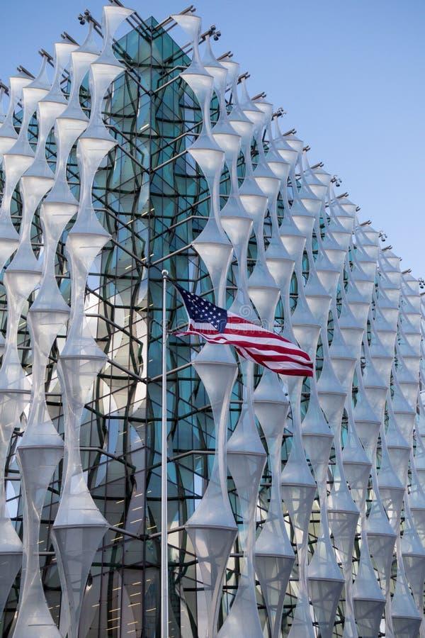 Ambassaden av Amerikas förenta stater i London royaltyfri foto