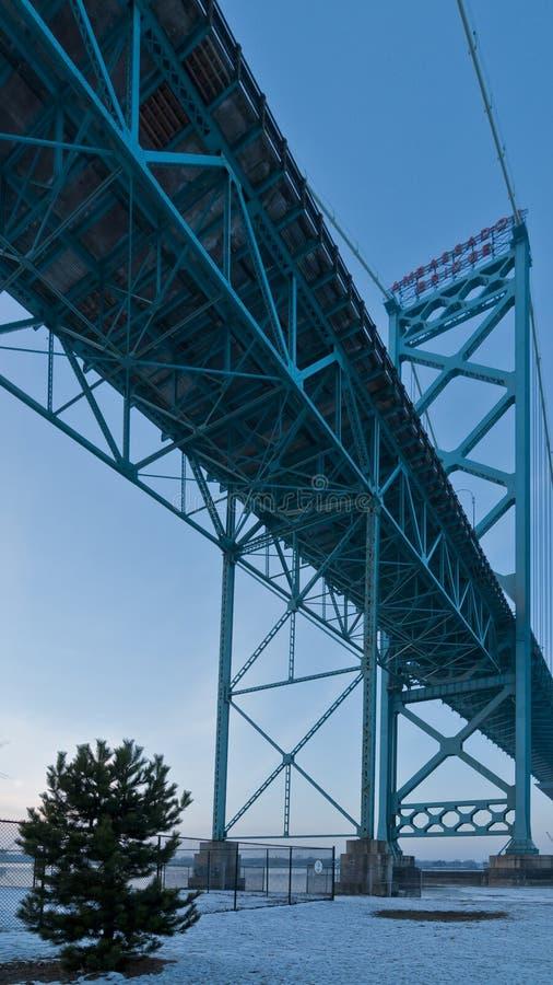 Ambassador Bridge, windsor ontario Canada stock photos