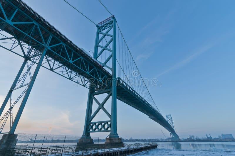 Ambassador Bridge, windsor ontario Canada royalty free stock images