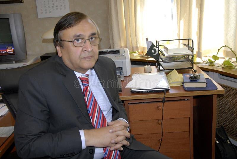 AMBASSADOR MASROOR AHMED JUNEJO. Hellerup/COPENAHGEN /DENMARK 25 June 2015_ H.E.Ambassaor Mr.Masrror Ahmed Junejo of Pakistan new amabssador to Denmark Embassry royalty free stock image