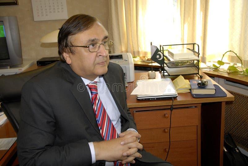 AMBASSADOR MASROOR AHMED JUNEJO. Hellerup/COPENAHGEN /DENMARK 25 June 2015_ H.E.Ambassaor Mr.Masrror Ahmed Junejo of Pakistan new amabssador to Denmark Embassry stock photo