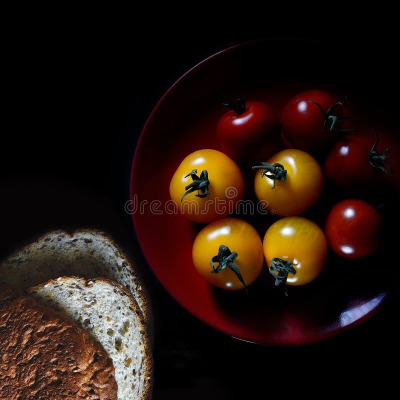 Amber & ντομάτες Rosso στοκ εικόνα