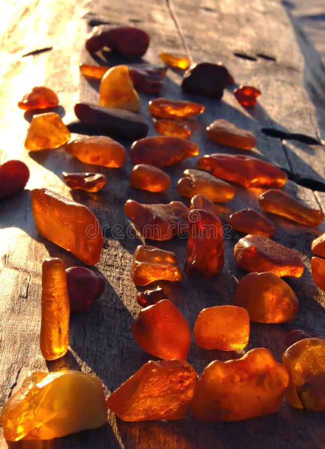 Set of diverse, multi-coloured, raw amber stock photography