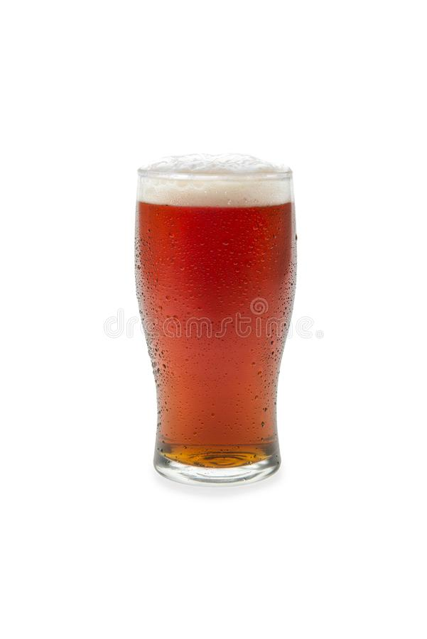 Amber Ale In Pint Glass 1 fotos de stock royalty free