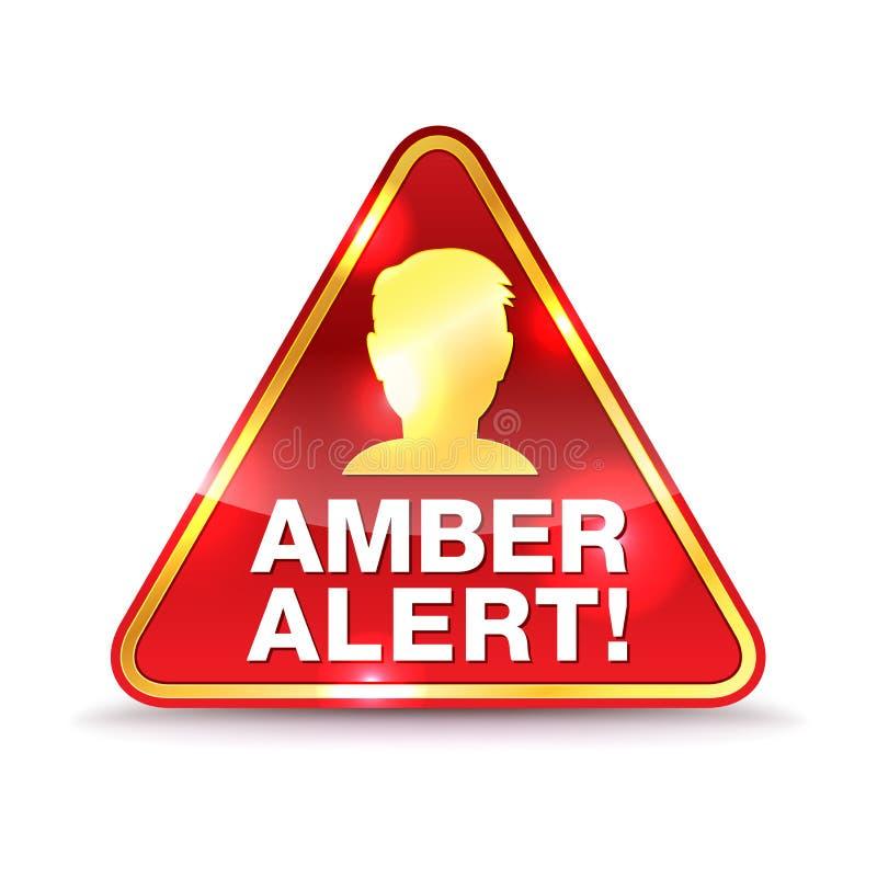 Amber Alert Warning Icon Illustration illustration de vecteur