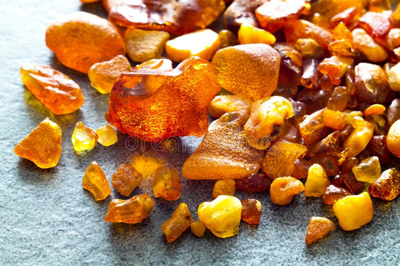 Amber from the Baltic Sea royalty free stock photos