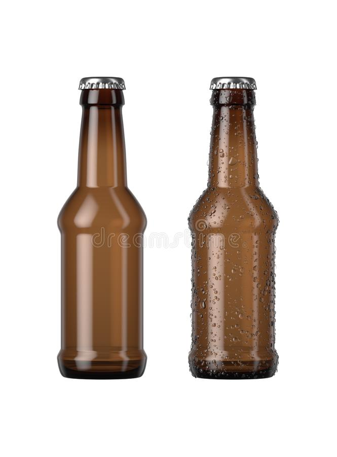 Amber Beer Bottle vide illustration libre de droits
