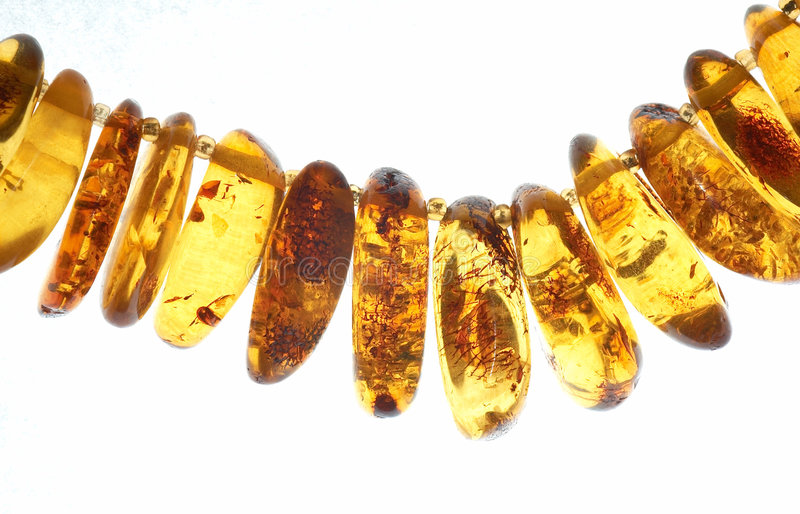 Amber bijouterie royalty free stock images