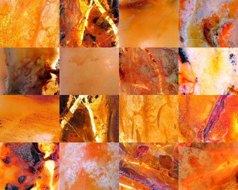 Amber collage stock photo