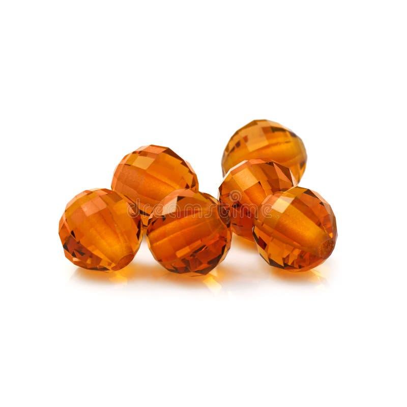 Amber Color Beads images libres de droits