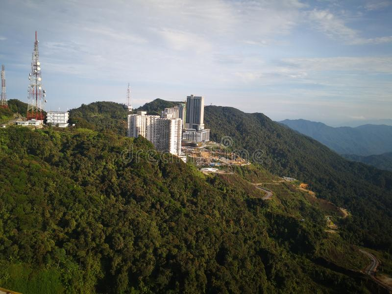Amber Court Hotel in Genting Highlands, Pahang, Malaysia. Located on the peak of the mountain directly opposite Resorts World Genting royalty free stock photo