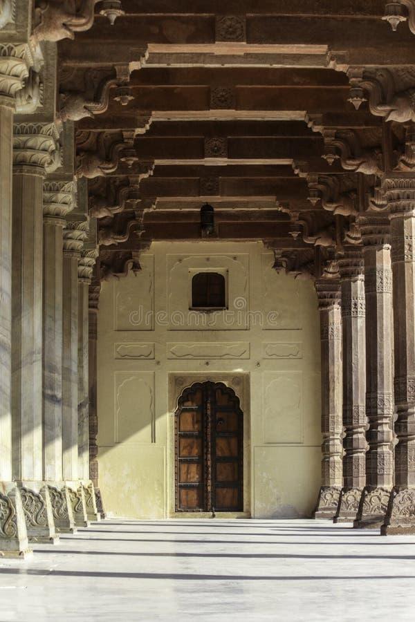 Amber Fort-binnenland royalty-vrije stock foto's