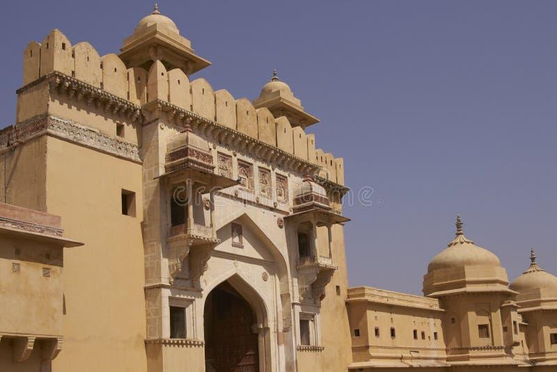 Amber Fort en Jaipur, Rajasthán la India fotos de archivo