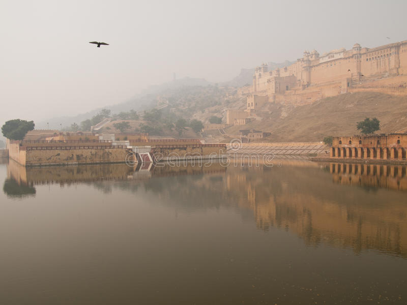Download Amber fort in Jaipur stock image. Image of building, pigeon - 21478673
