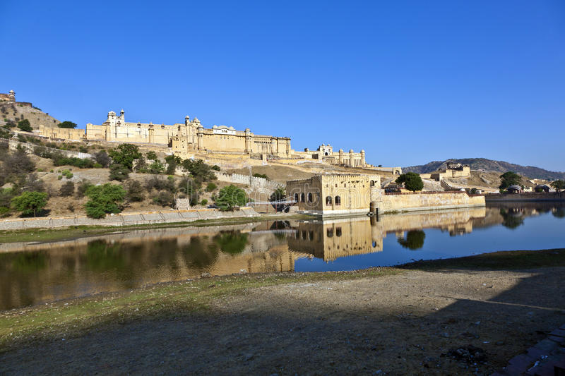 Amber Fort in Jaipur stock foto's