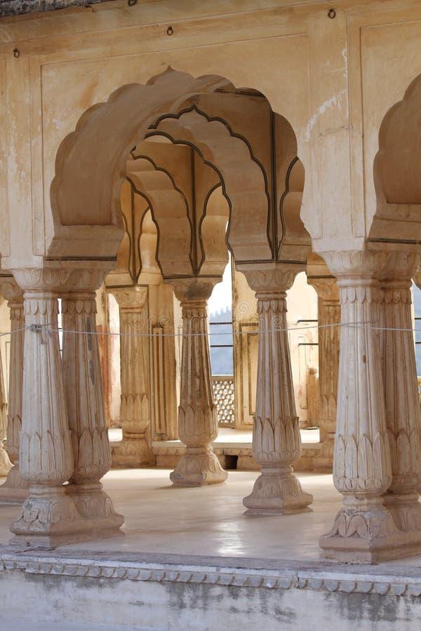 Amber fort, Jaipur, India royalty-vrije stock afbeelding