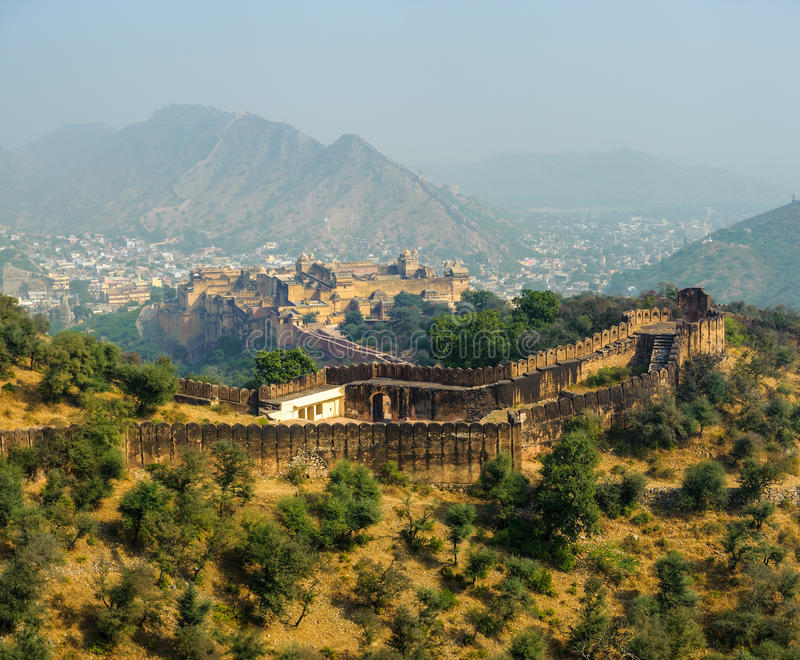 Amber Fort in Jaipur stock photo