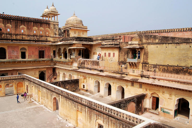 Amber Fort, Jaipur India stock afbeeldingen