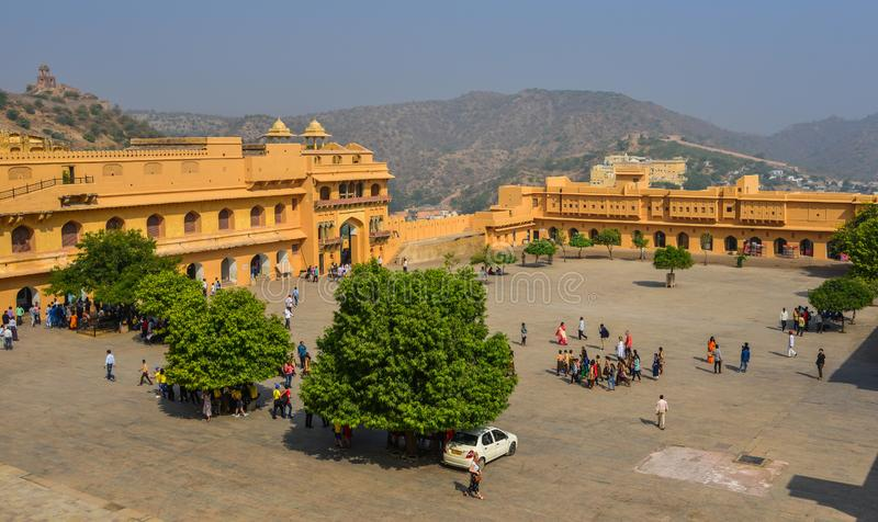 Amber Fort in Jaipur, India royalty free stock photos