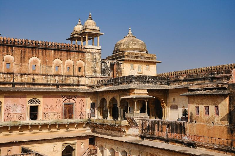 Amber Fort in Jaipur in Rajasthan, India stock foto
