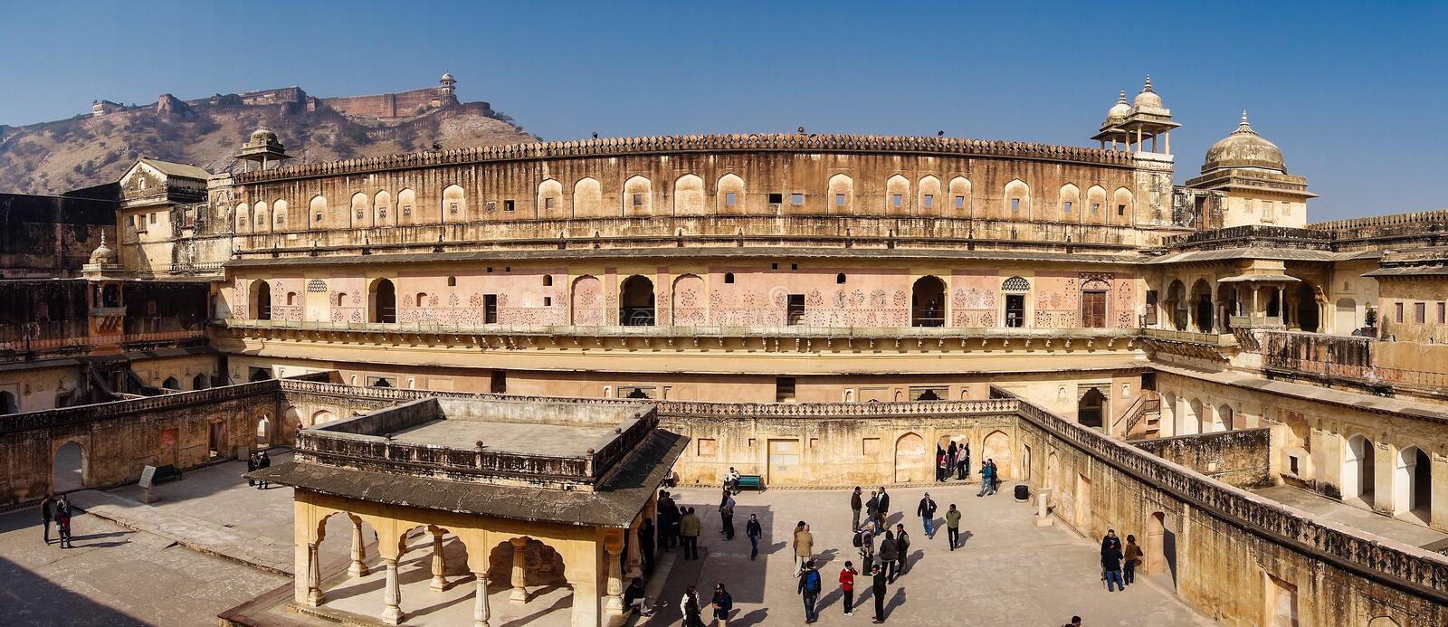 Amber Fort in Jaipur in Rajasthan, India royalty free stock photo