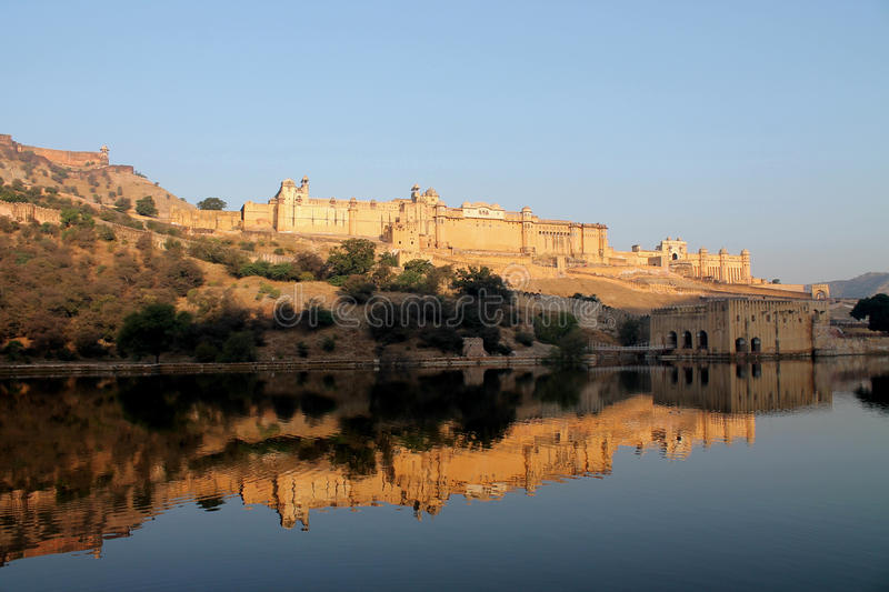 Amber Fort majestosa em Jaipur, Índia fotos de stock