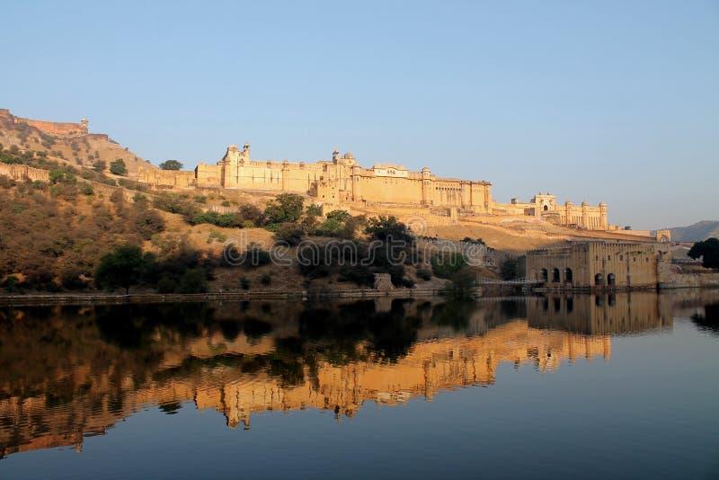 Amber Fort majestuosa en Jaipur, la India fotos de archivo