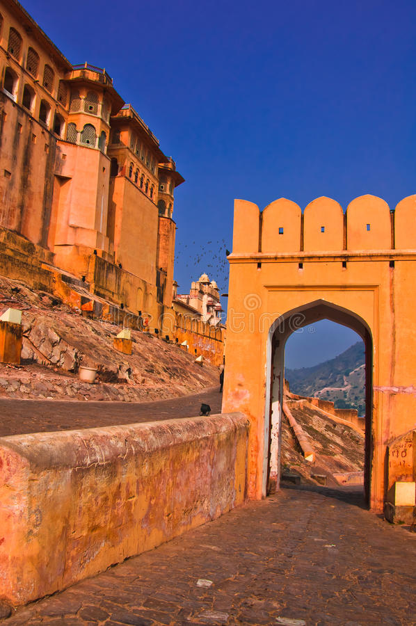 The Amber Fort, Rajasthan, Jaipur stock images