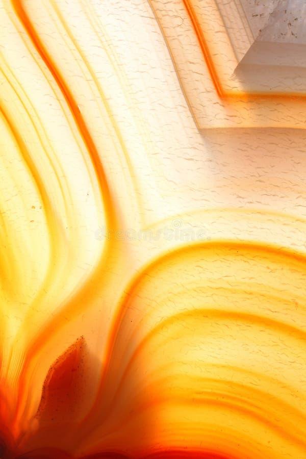 Amber gekleurd agaat royalty-vrije stock foto